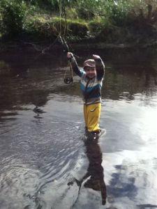 John fishing the Shournagh last year