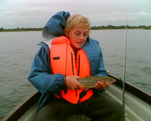 Leo with a Carra trout he caught a while ago