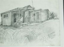 A fine sketch of the hut