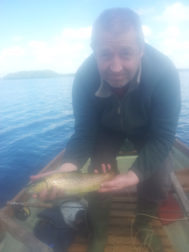 Sean with a nice trout