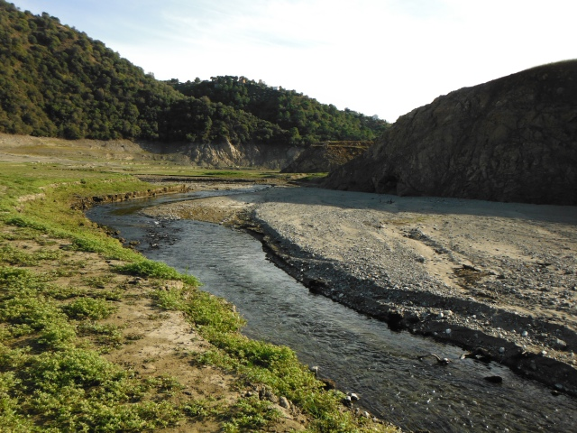 The Río Verde feeds Concepción with river water but there has been too little to prevent a huge fall in the water levels of the reservoir.