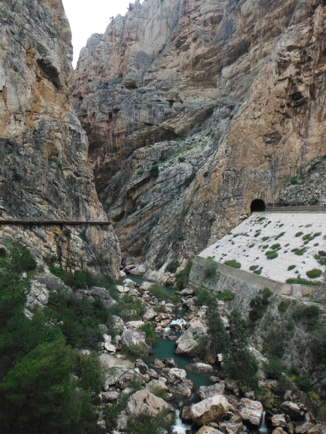 On the right is the entrance to a railway tunnel