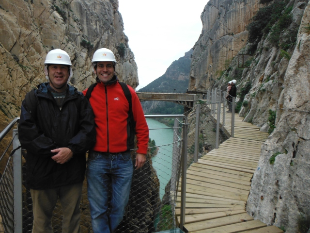 Two intrepid adventurers! My wife saw this picture and says I look like a dork. It´s the hair net apparently!