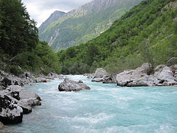 The Soca River, Slovenia