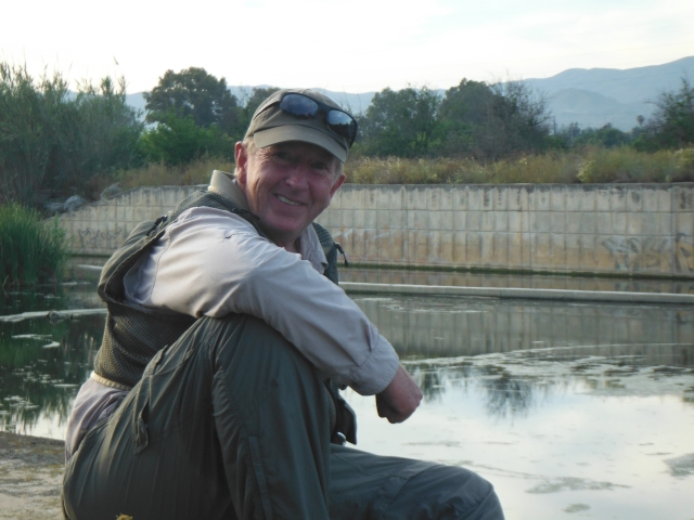 Steve had a good day on the river and, with quite a few fish under his belt, was happy to watch the leaping fish.