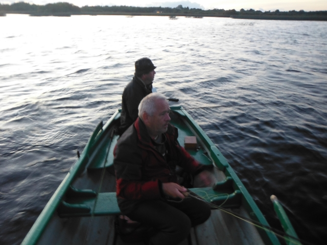 Here Sean and I are fishing the last drift. We were getting pretty chilled and thoughts of a pint were not far away.