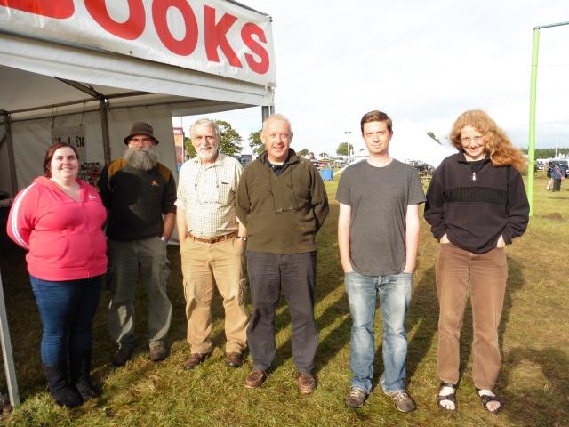 A motley crew. Left to right: Marion, Ken, Paul Morgan, moi, Luke and Jane